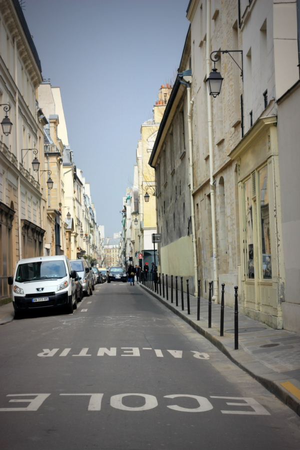 An empty street in Paris