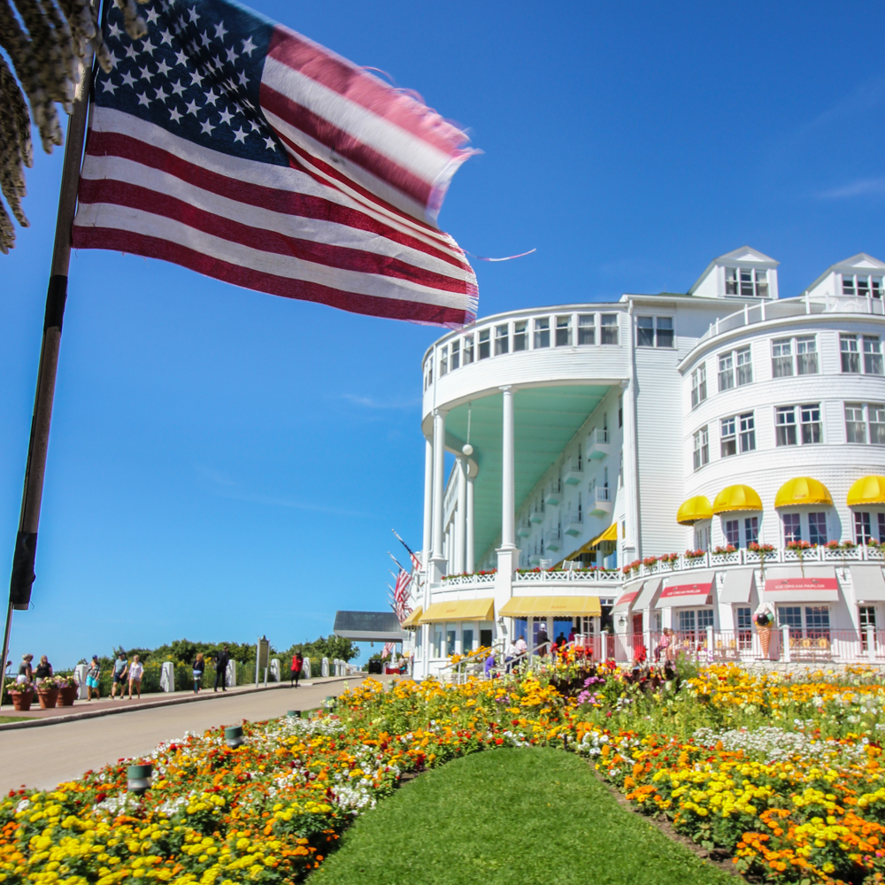 One of the must-do activities on Mackinac Island- Stopping by the Grand Hotel!