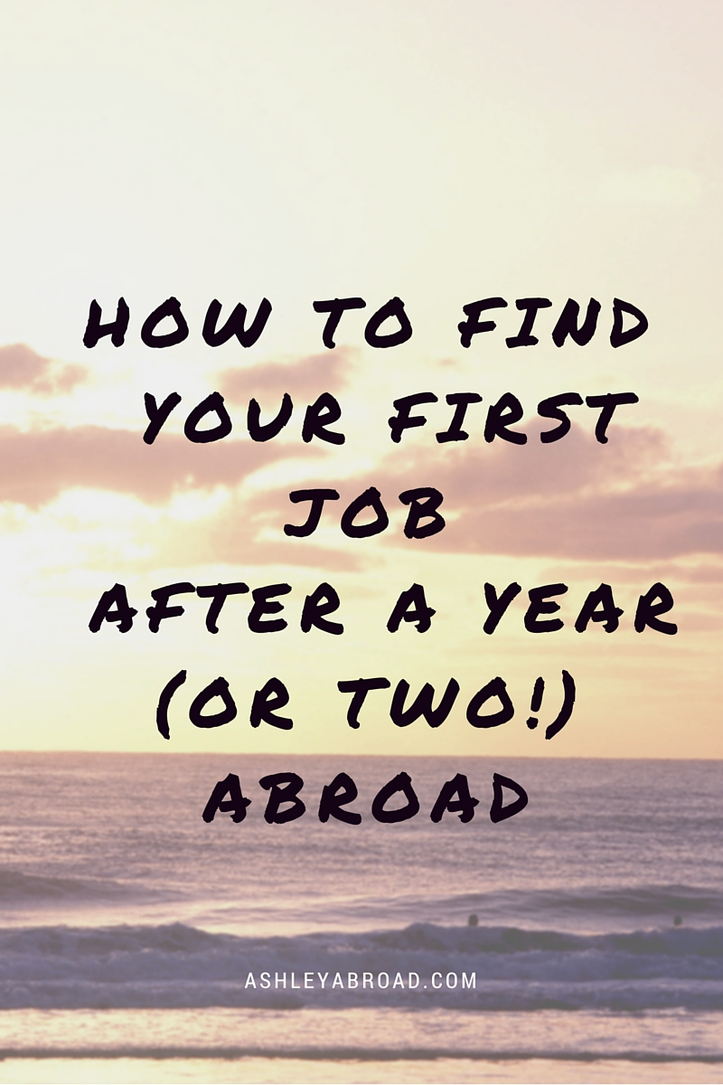 how to get your first entry level job